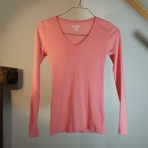 Long Sleeve Shirt Tee   Pink XS Old Navy Perfect